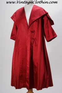 1950s Silk Satin Evening Coat, Opera Coat, 1950s , 1950s, Coat, Vintage Coat, 1950s Coat, 50s coat