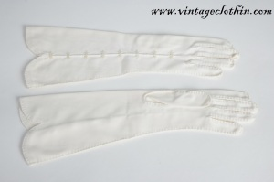 Gloves, vintage gloves, opera gloves, 1950s gloves, 50s gloves,