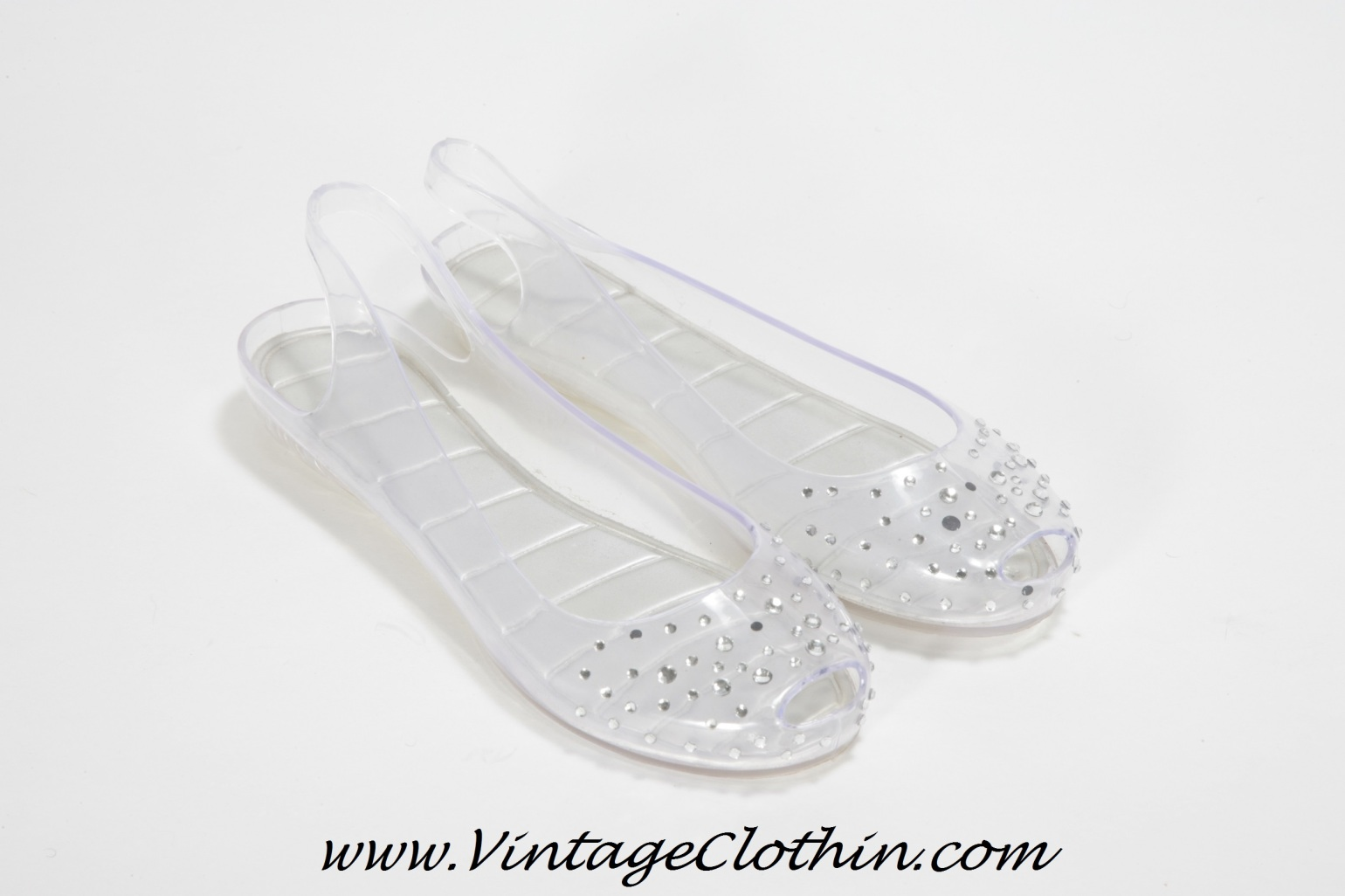1980s Jelly Shoes with Rhinestones