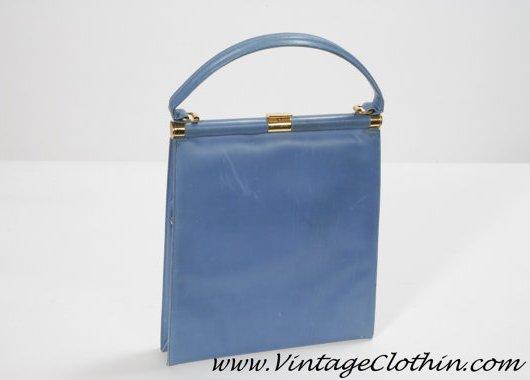 1960s Blue Mod Purse By Manon