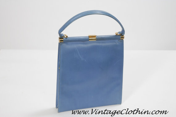 1960s Blue Mod Purse By Manon