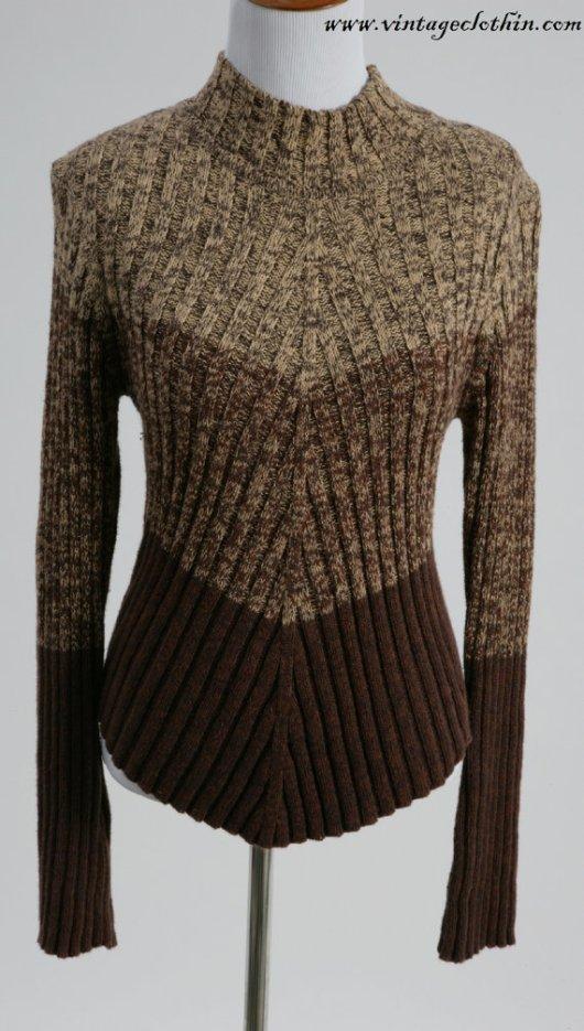 1980s - 1990s Fiorlini International Brown Sweater