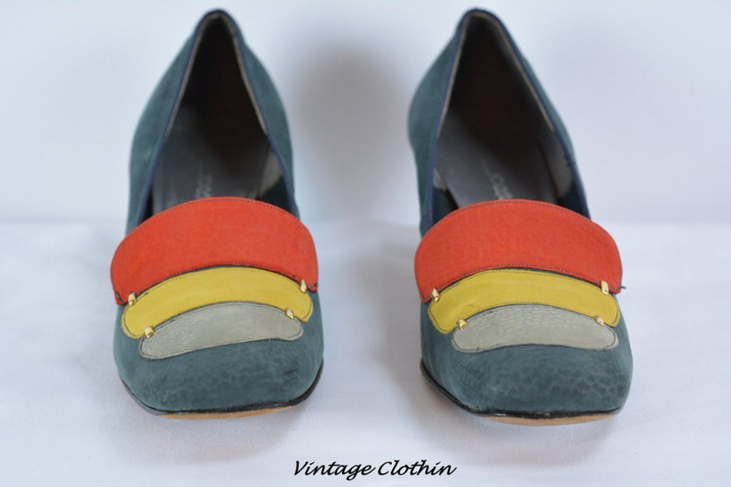 Vintage 1960s Florsheim Color Block Shoes