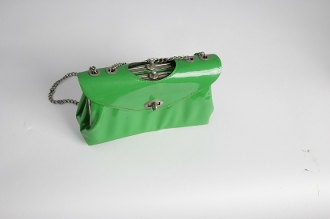 1960s/1970s Mod Purse with chrome chain handle straps