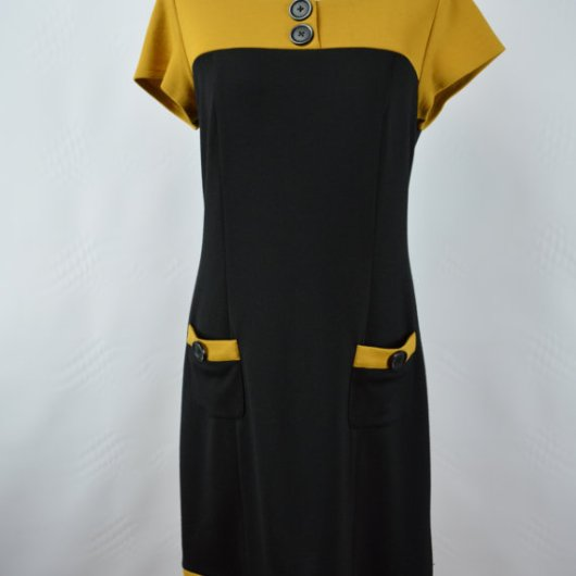 1960s Style Color Block Mod shift Dress by Scarlett