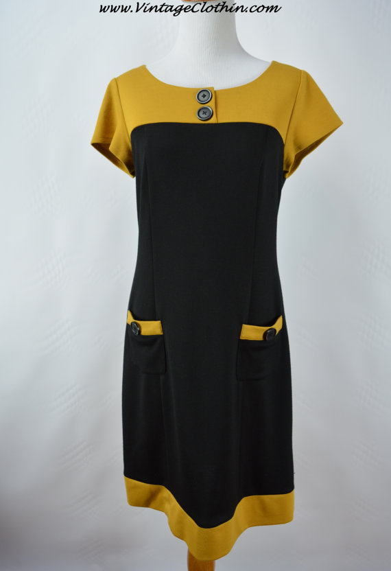 1960s Style Color Block Mod shift Dress by Scarlett