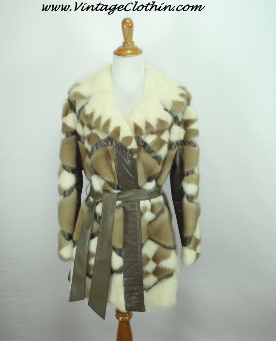 1970s Mink Fur and Leather Coat