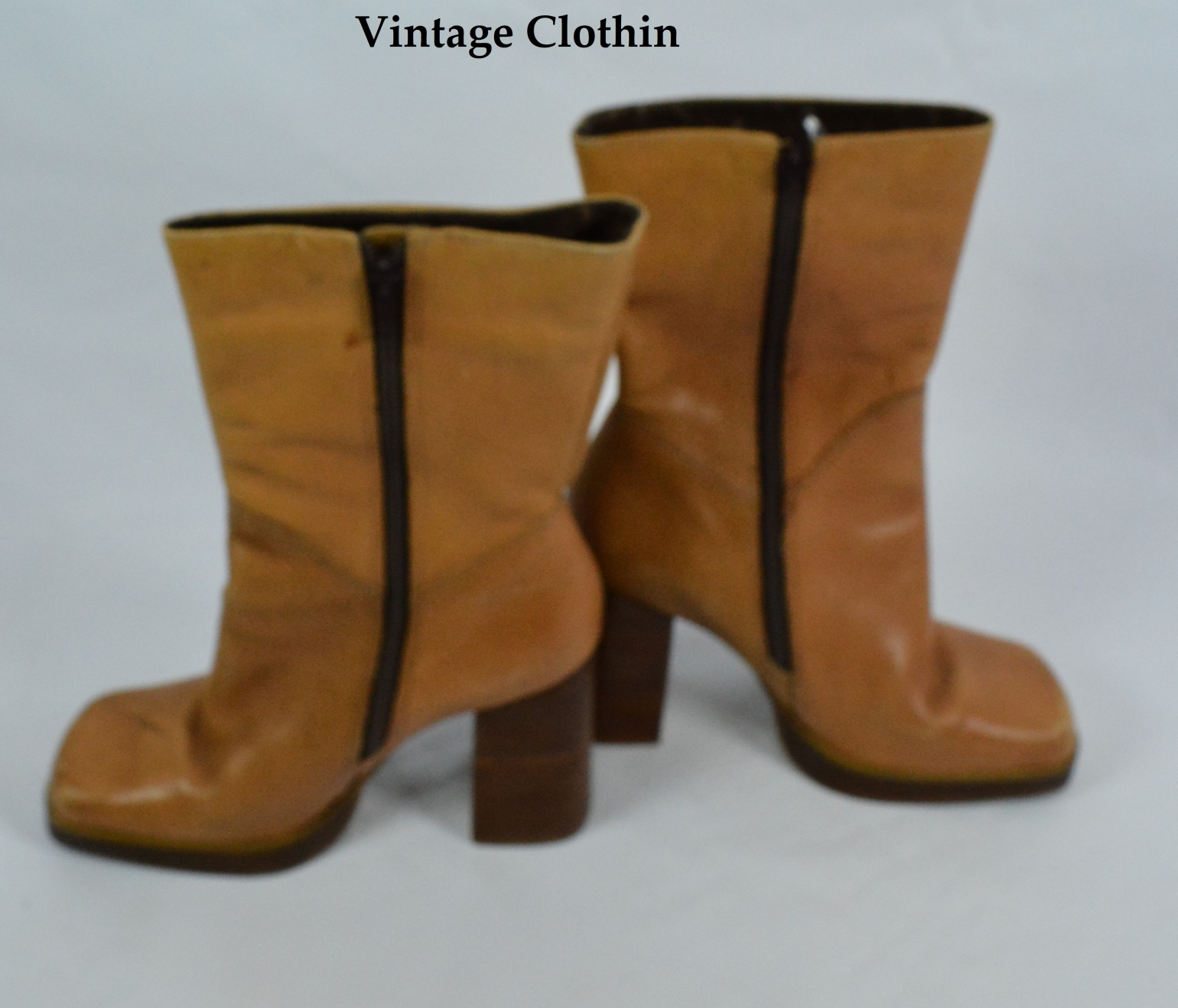 1970s Style Candies Leather Platform Boots