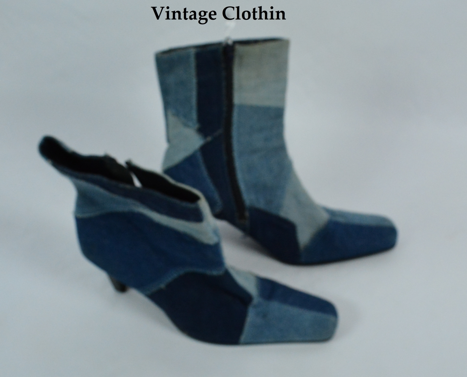 1990's L.E.I Patchwork Denim Boots