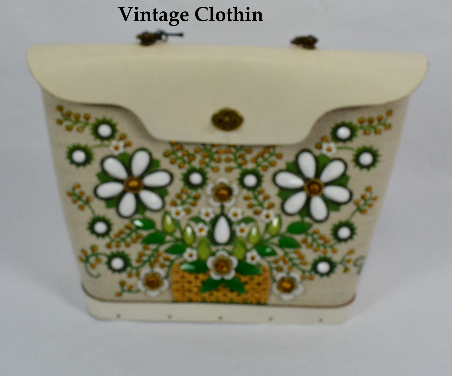 1960s Enid Collins Flower Basket 1 Jeweled Purse