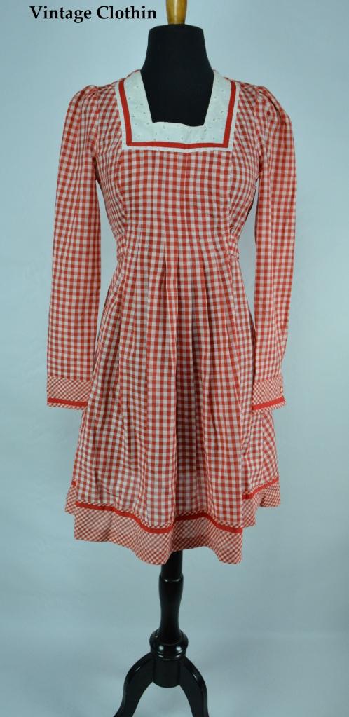 1970s Gingham Dress