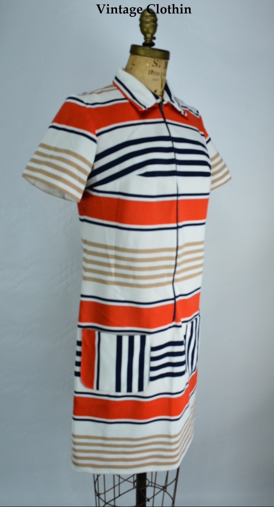 1960's Striped Mod Dress