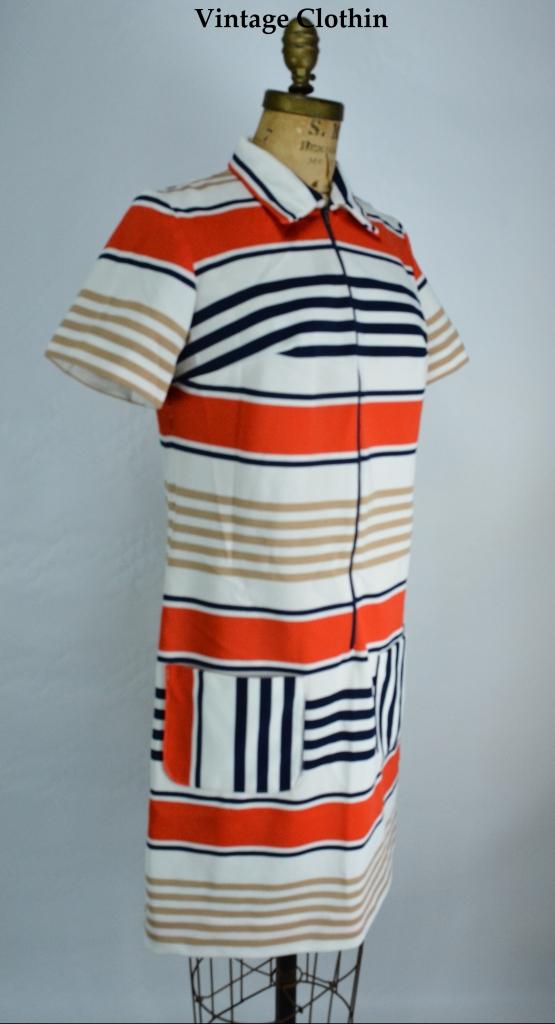 1960's Striped Mod Dress