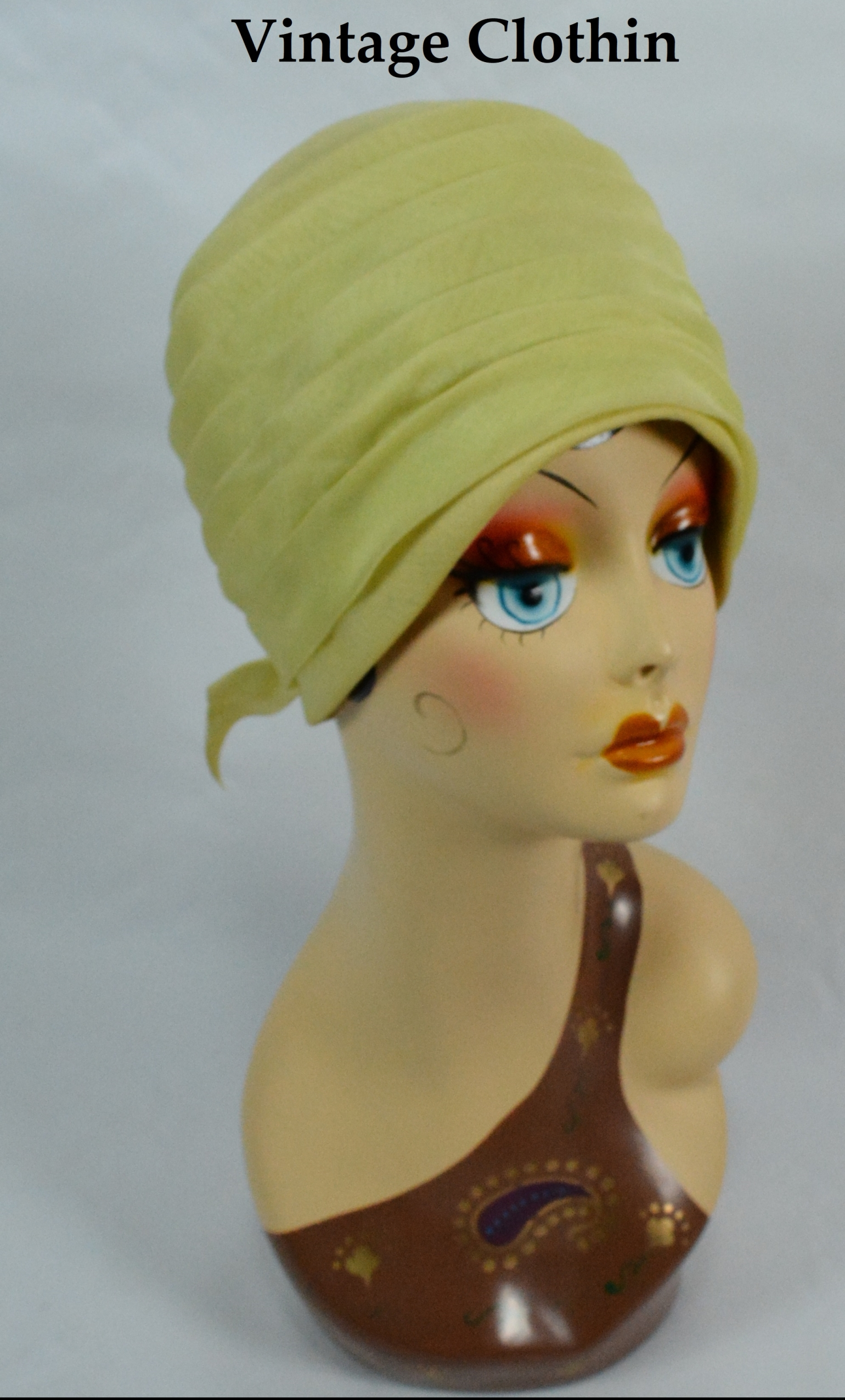 1960's Tall Pillbox / Turban Topper Hat Made by Vogue Hats
