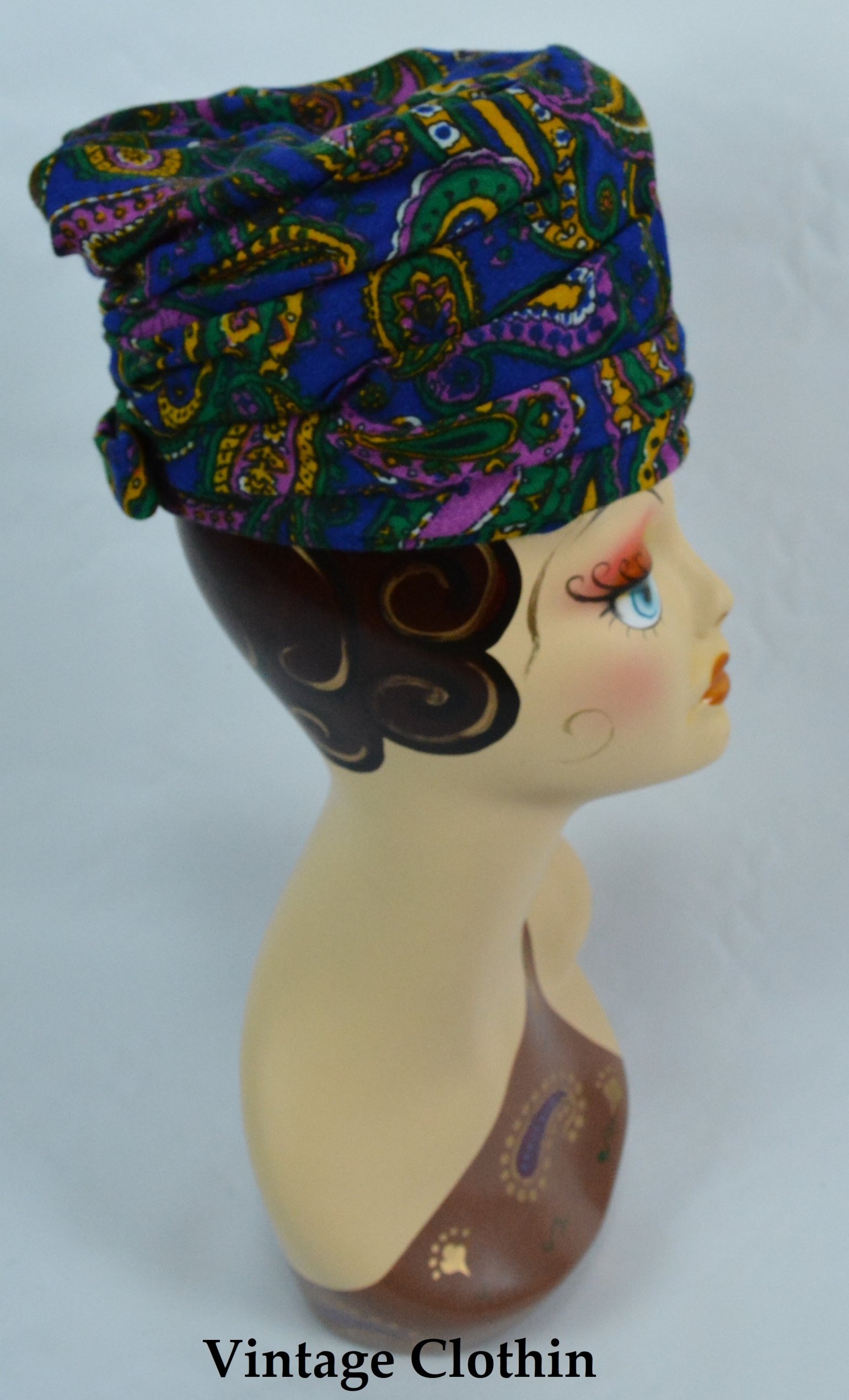 1960's Tall Pillbox / Turban Topper Hat