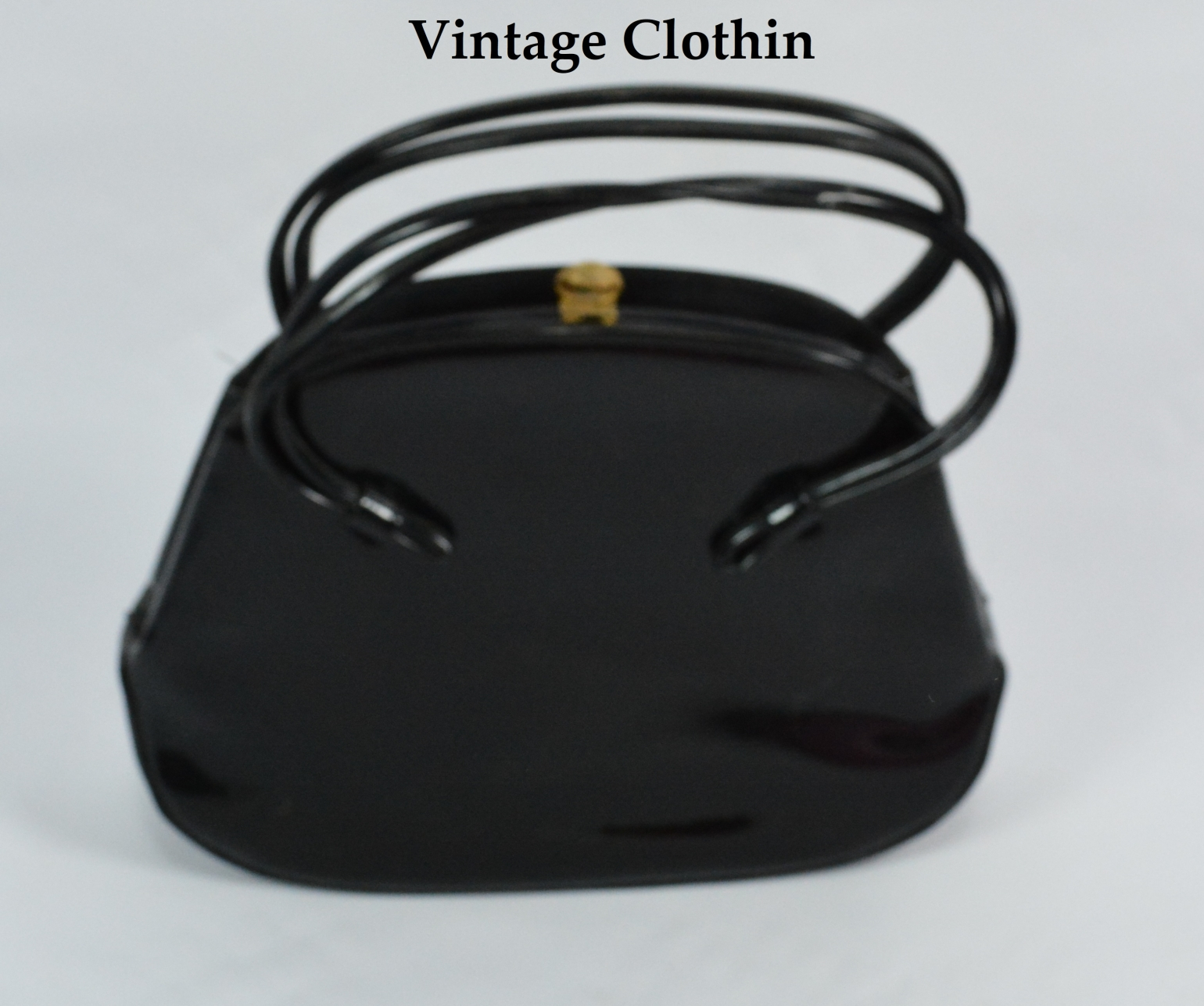 1960s Lewis Patent Leather Purse