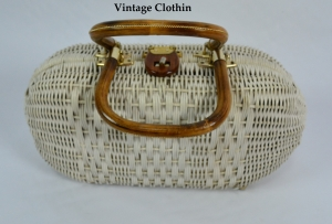 1950s Wicker Purse