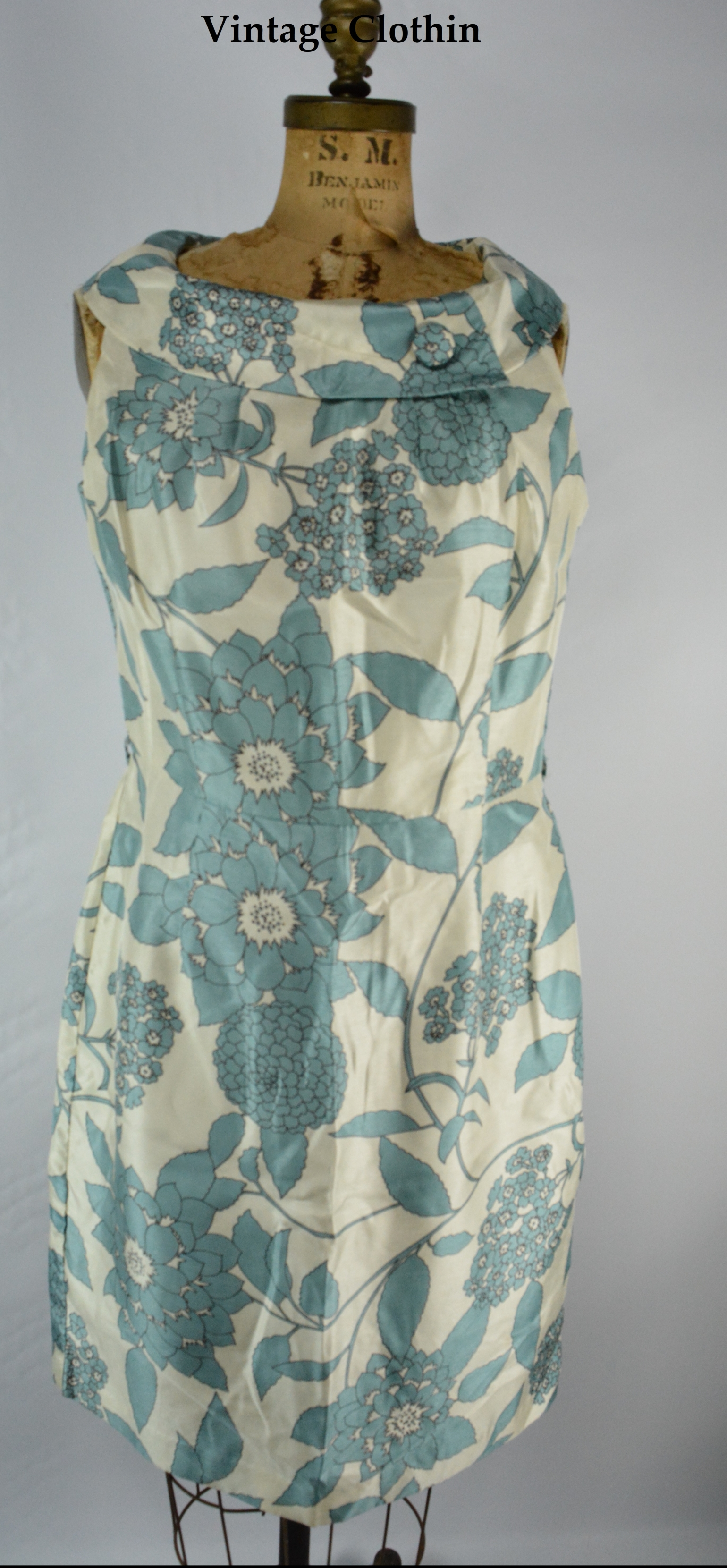 1960s Style R & K Originals Silk Shift Dress