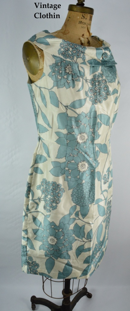 1960s Style R and K Originals Silk Dress