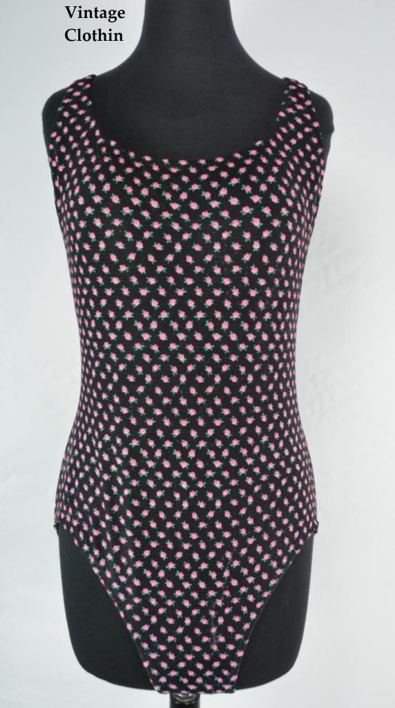 c1980's Floral Swimsuit