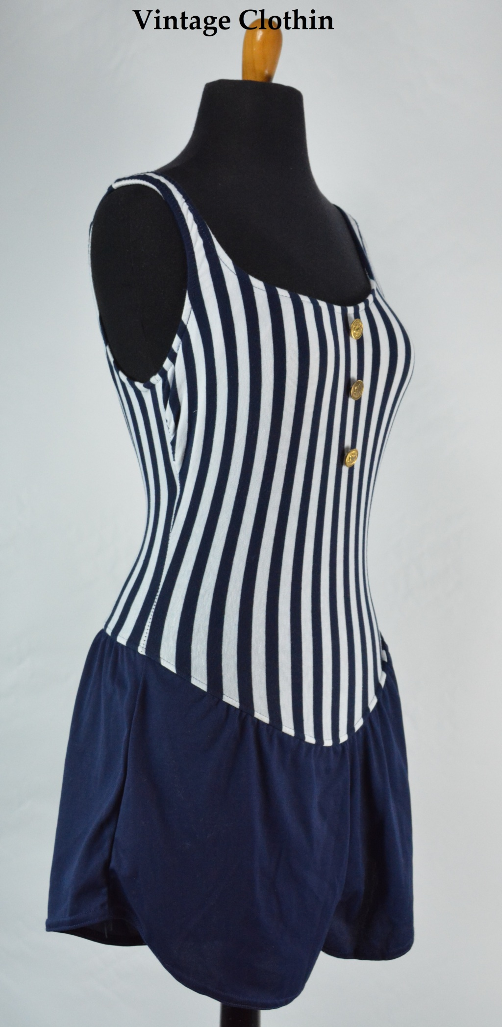 c1970s/1980s Pacific Connections Nautical Swimsuit