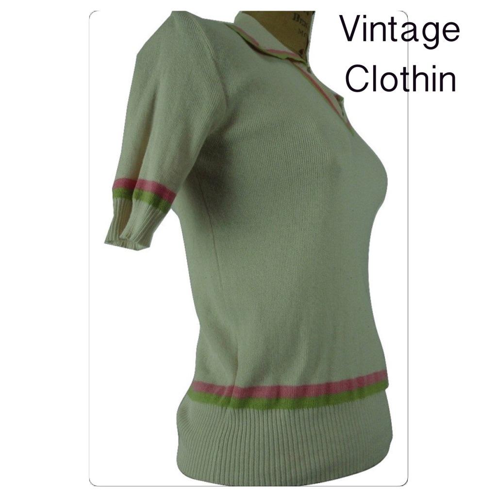 1960's Striped Knit Sweater
