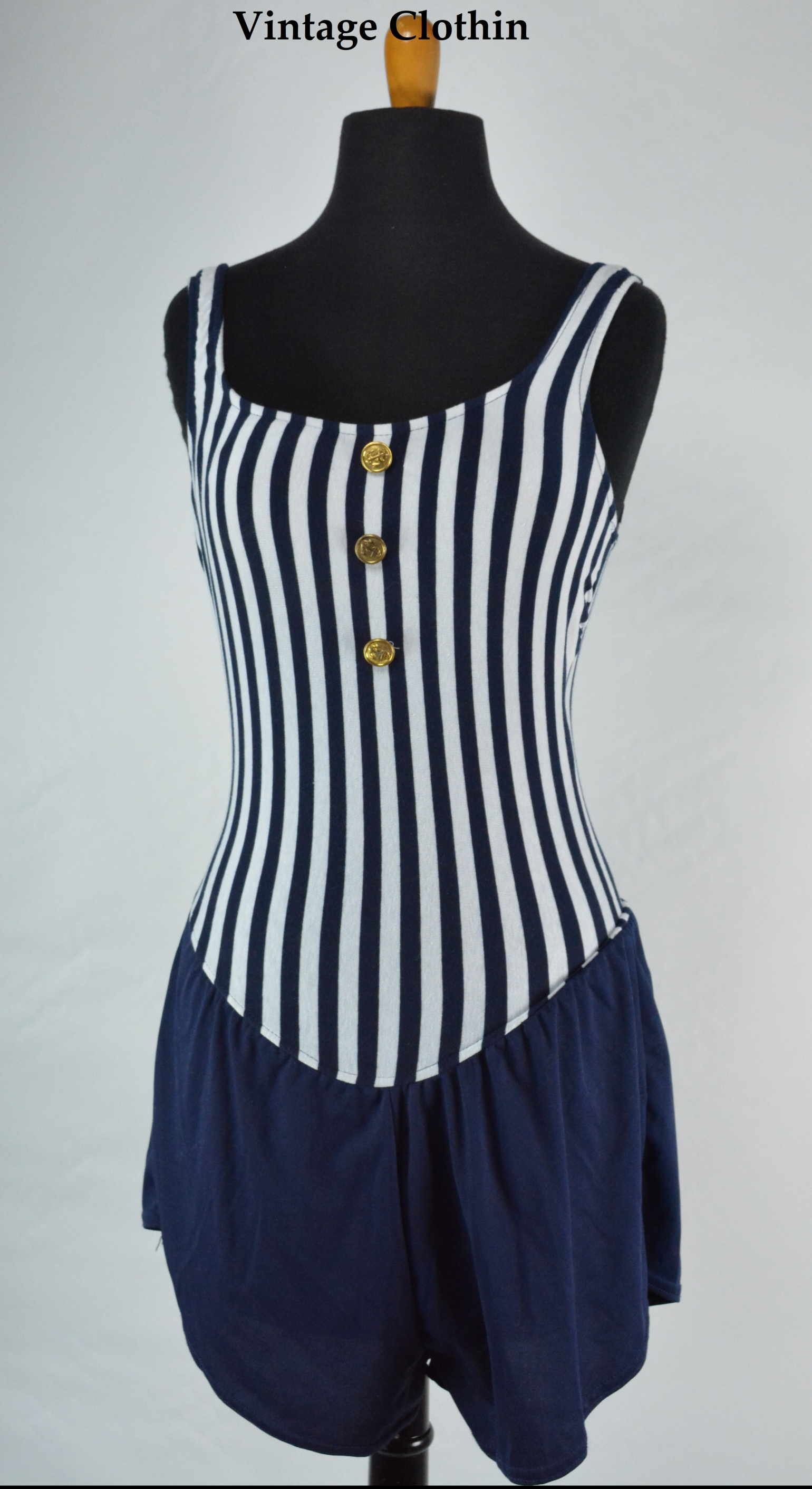 1980's/1990's Pacific Connections Sailor/Nautical Swimsuit