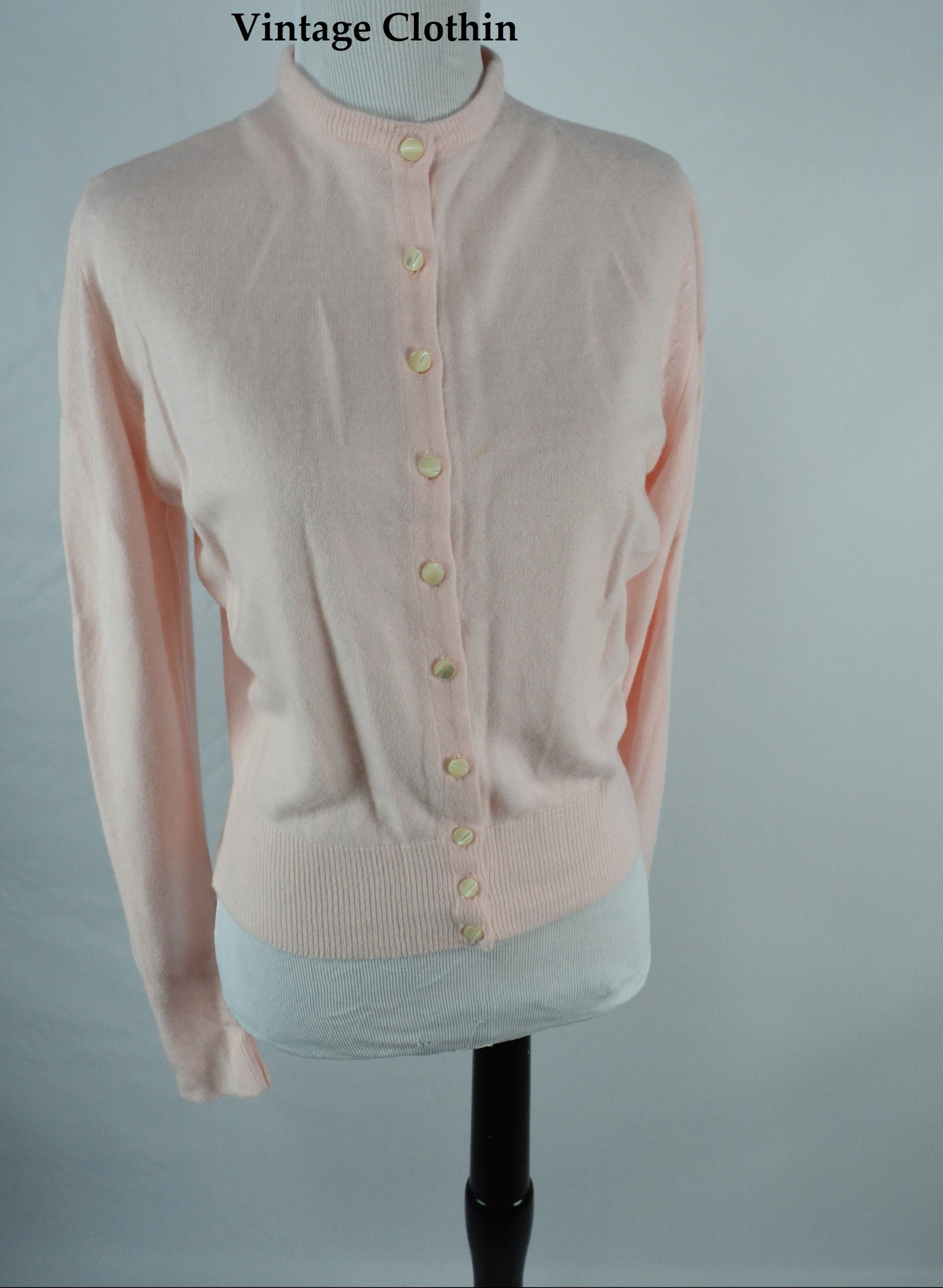 c1950s Princess Helaine Pink Cardigan