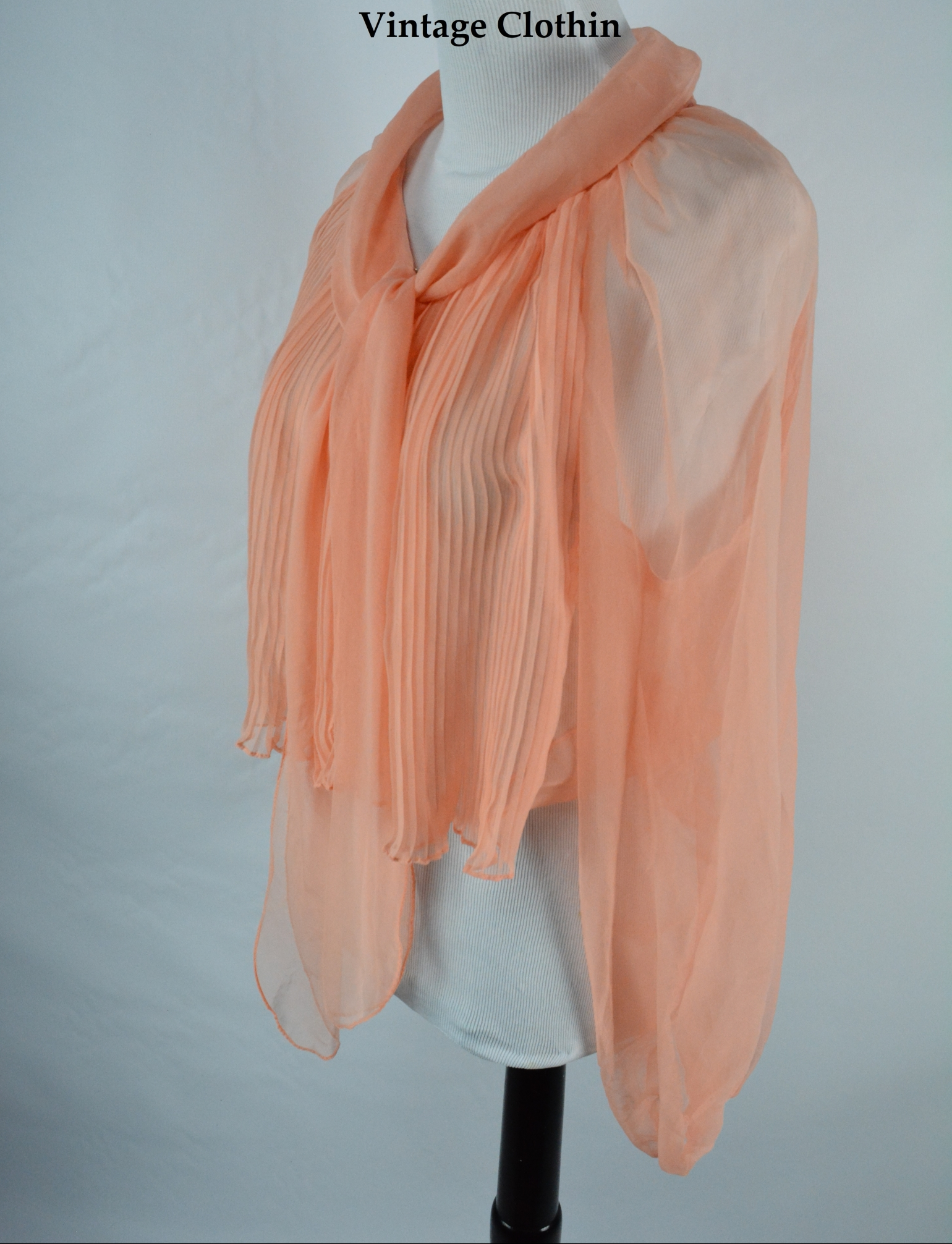 C1950s Sheer Peach Lingerie Top, Blouse, Cardigan