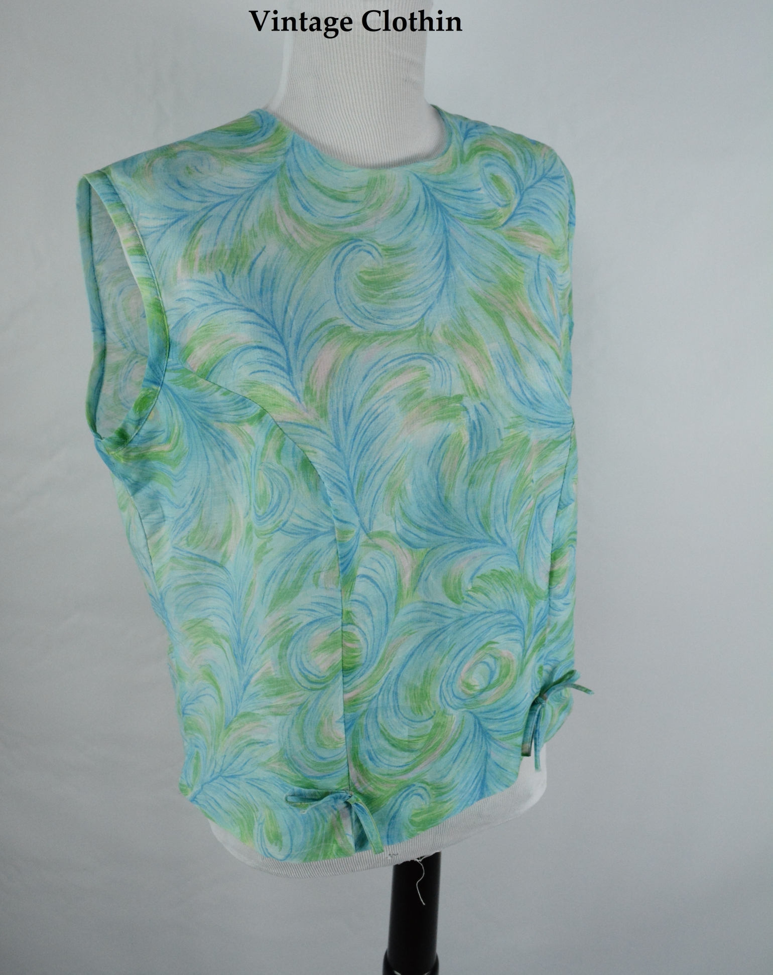 1960s Joyce Lane Mod Shift Blouse/Top