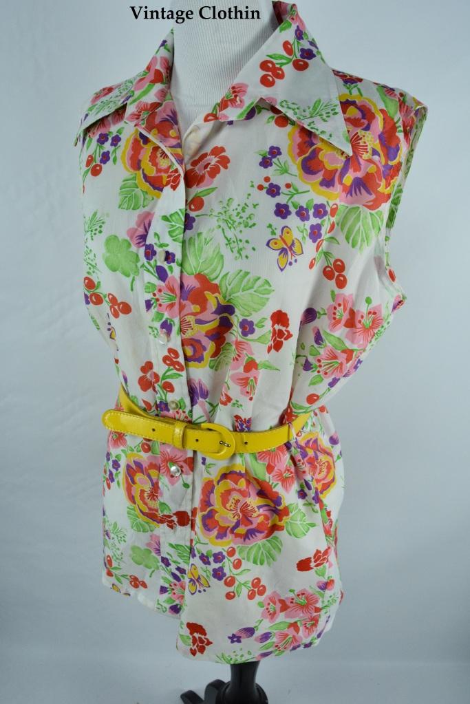 1970s Kmart Floral Blouse