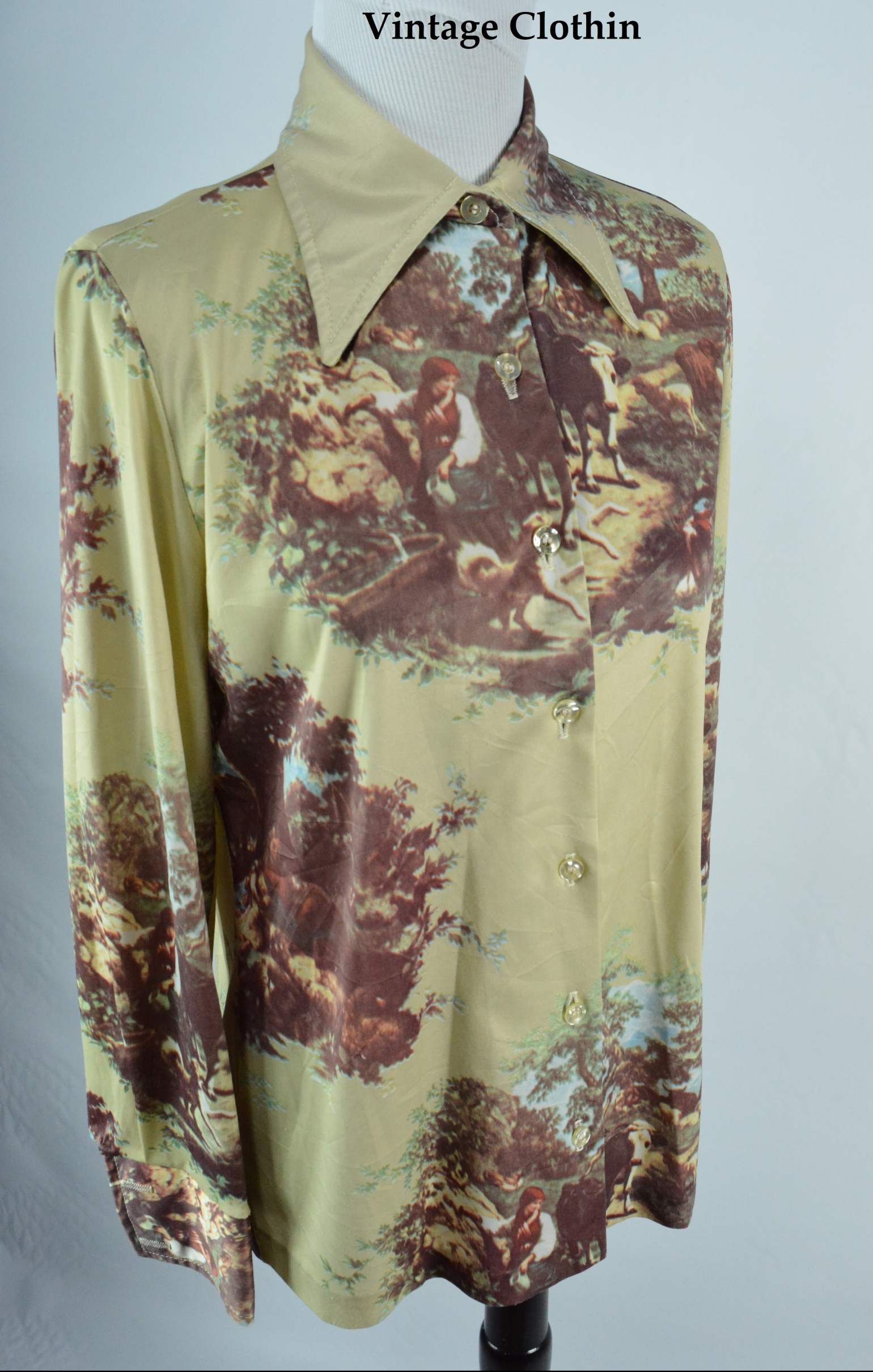 1970s Jantzen Novelty Print Blouse/Shirt
