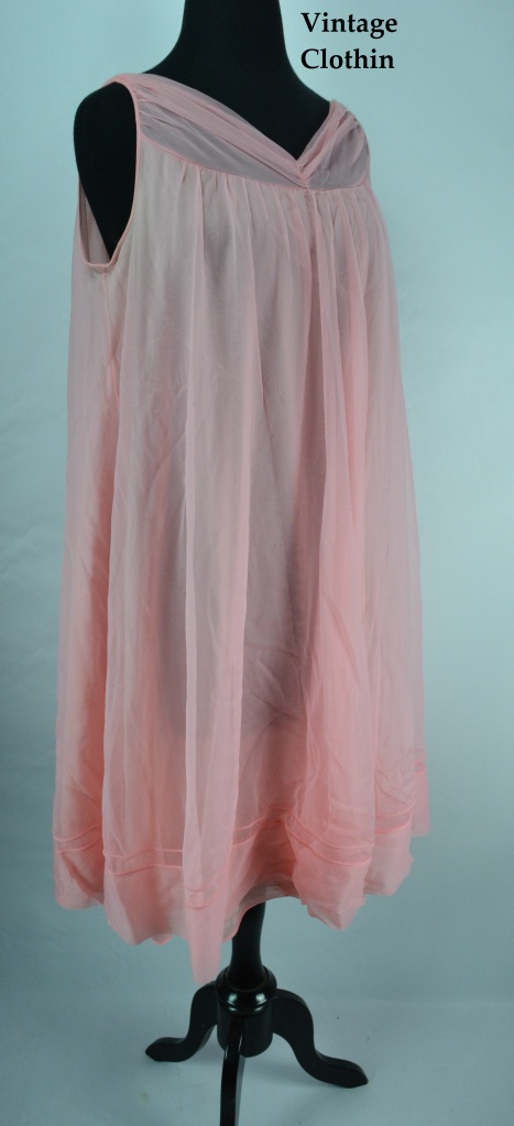 1960s Pink Baby Doll Nightgown