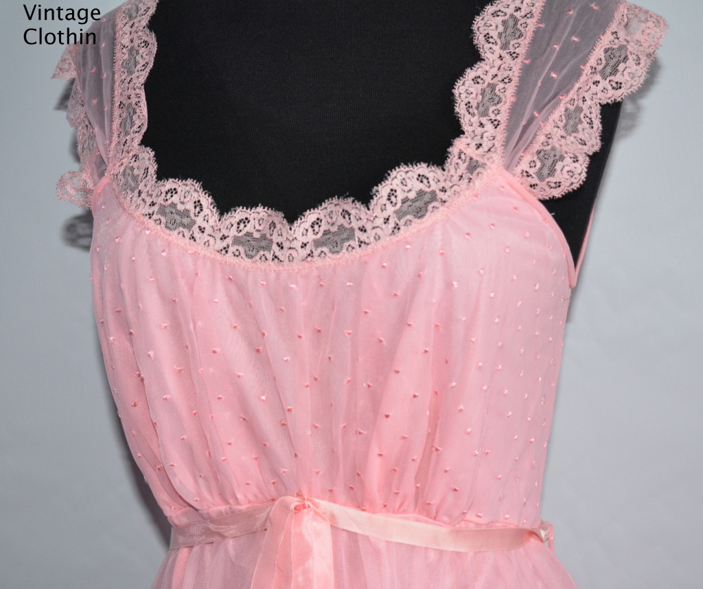 1960s Luxite Kayser Pink Nightgown