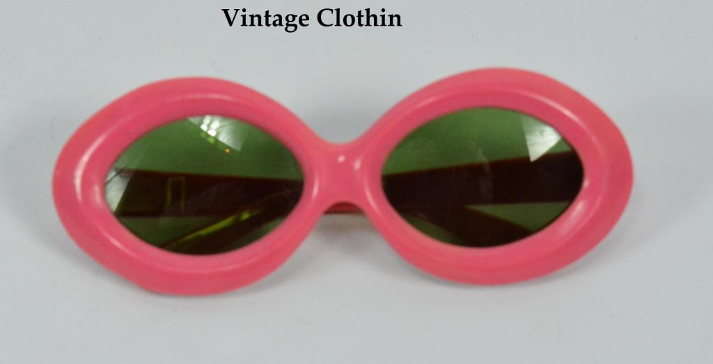 c1940s Art Deco Pink Pinup Sunglasses