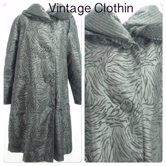 1950s Style M Collection Animal Print Coat