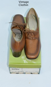 1972 Selby Brown Leather Oxfords New Old Stock