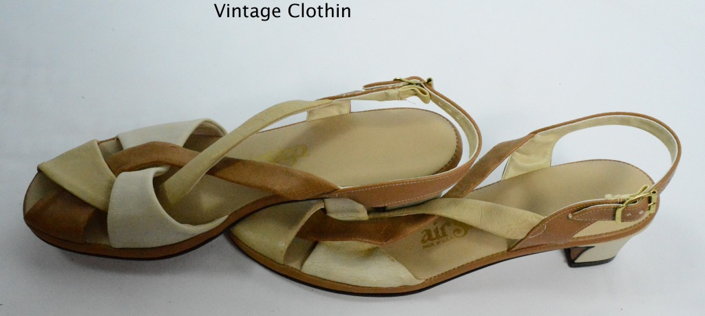 1980s Air Step Tan and Beige Sandals