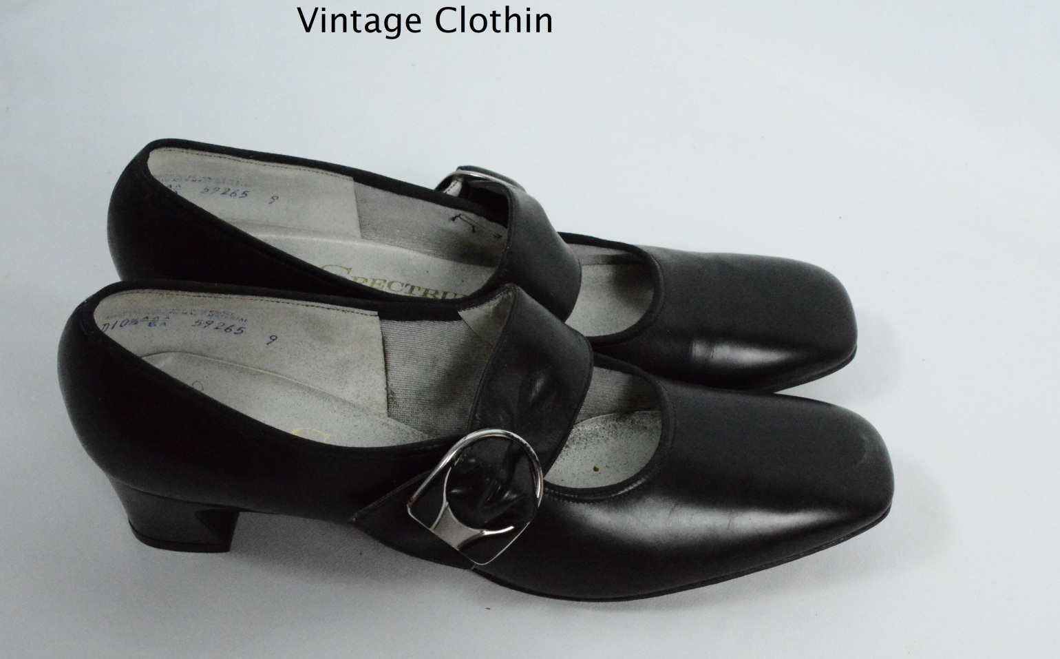 1960s Spectrums by Selby Black Pumps