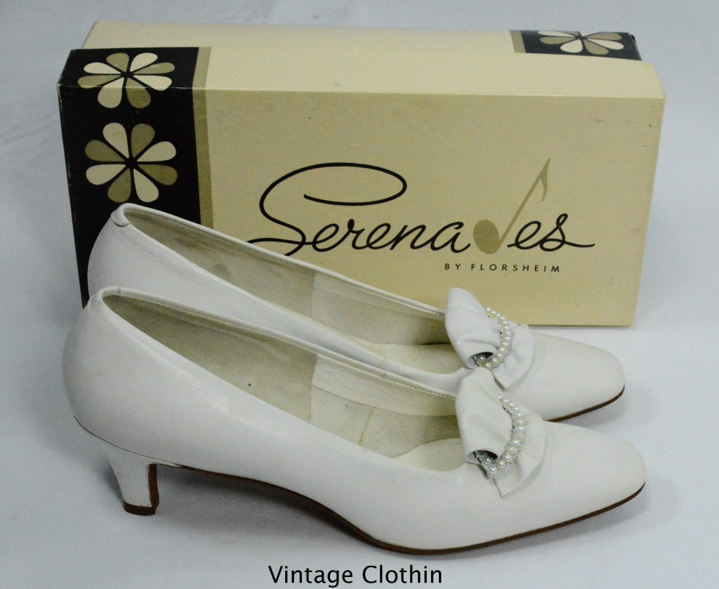 1970s Serenades by Florsheim White Pumps