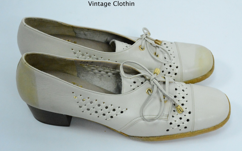 1970s does 1940s Woolf Brothers Bone Pumps
