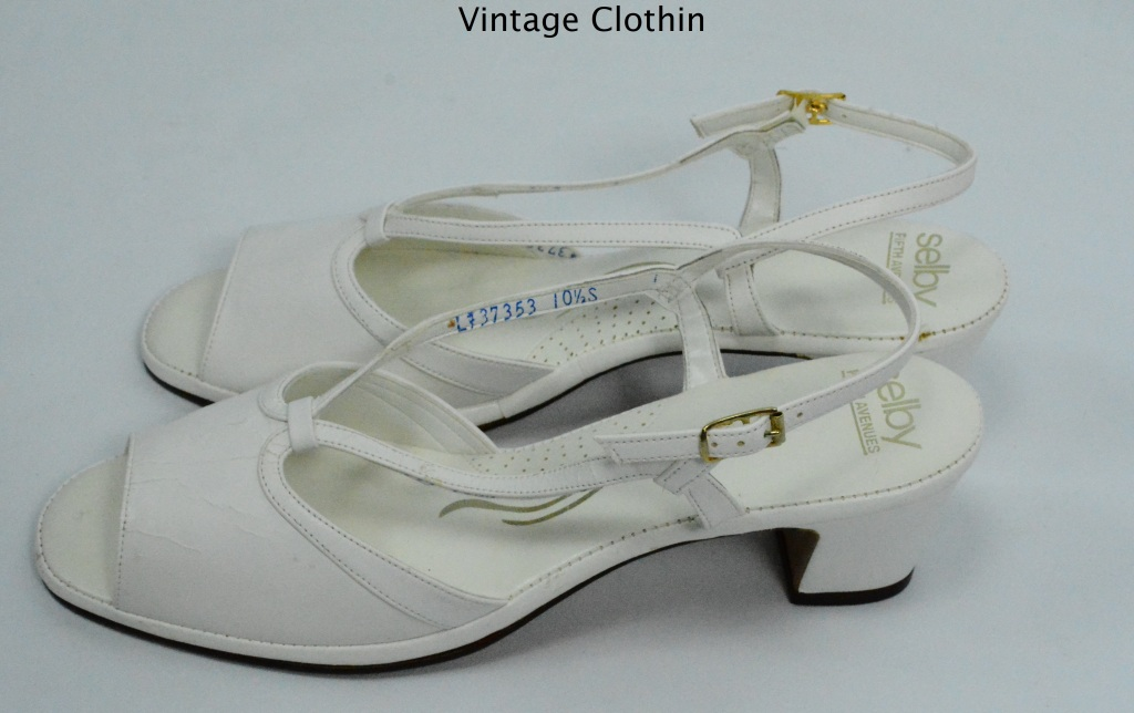 1980s Selby White Spaghetti Strap Sandals