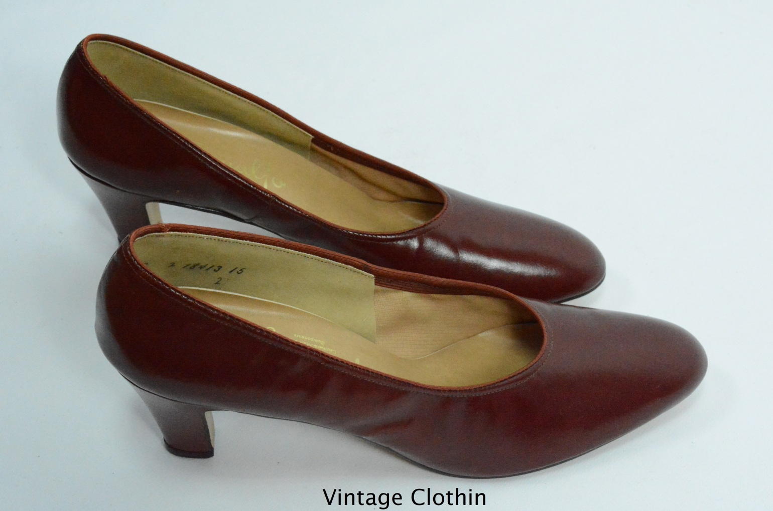 1980's does 1950s Penaljo Wine Color Pumps