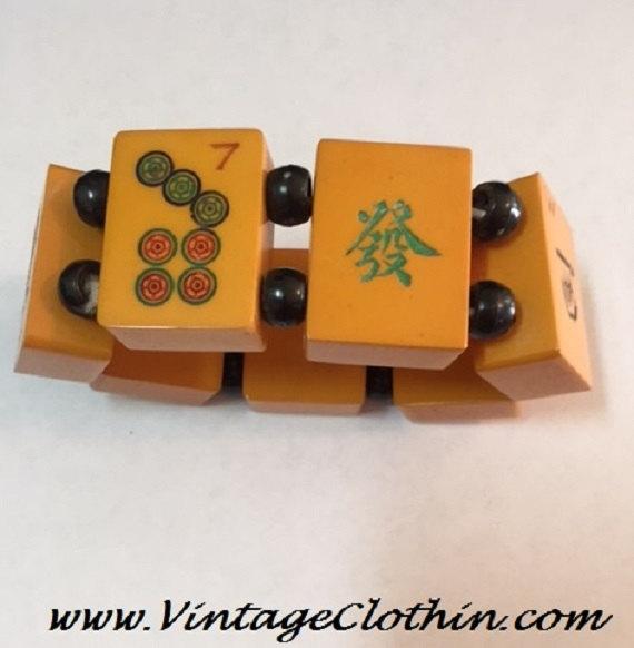 Vintage Mahjong Tile Bakelite Bracelet